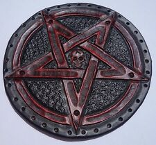 pentagram  GENUINE LEATHER red  PATCH