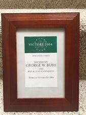 Framed Ticket Stub-George Bush Victory 2004 Tour-Westlake Ohio-October 28, 2004
