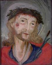 schönes altes Hinterglasbild / Sakralmalerei - 19 Jhd - Jesus Christus