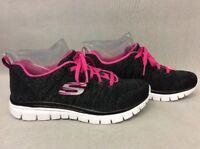 Womens Skechers 59806H Flex Appeal Skech-Knit Training Shoe BKHP #BR