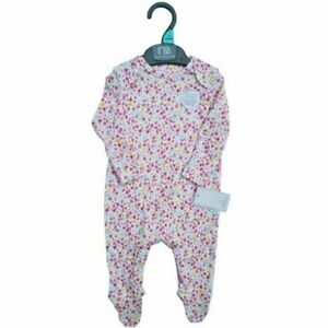 Baby girls ex mothercare floral baby grow sleepsuit NB 0-24 months