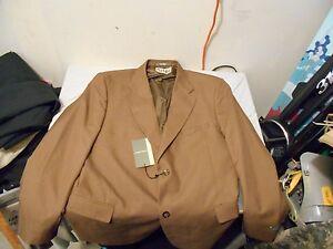 NWT Men's 44R 44 R Red Kap Linden Grey 4M14TP Two Button Polyester Blazer 40980
