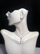 Jewelry Silvertone Chain/Necklace/Choker Glass Rhinestones Pendant China #125