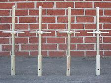 "4 New Scaffolding 24"" X 1-3/8"" Galvanized Solid Stem Socket Jacks CBM1290"