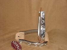 Showman Polished Aluminum Engraved Barrel Stirrups Show Stirrups Western Horse