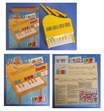PIANOFORTE A CODA vintage, piano 8 tasti, Avril Bontempi, metodo 7 note 7 colori