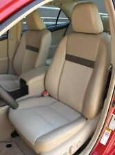2012 Toyota Camry LE leather Interior Seat Covers - Vin# U - Ivory