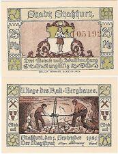 Germany 25 Pfennig 1921 Notgeld Stassfurt Staßfurt UNC Banknote - Miners