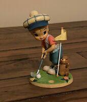 "Demdaco 2002 Expressions of Love ""Good Luck"" Boy Golfing Figurine"