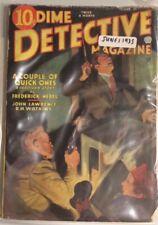 Pulp Magazine: DIME DETECTIVE June 1, 1935. Nebel, Butler stories.