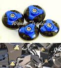 Frame Hole Cap Cover Plug Low & Up Blue Fit KAWASAKI Ninja EX 250 300 250R 300R