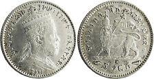 ETHIOPIE  ,  MENELIK  II  ,  GERSH  ARGENT  1895  A  PARIS