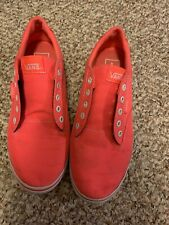 Vans Womans Sneakers Hot Pink Lace Up Size 7 Atwood