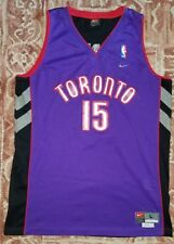 Nike NBA Toronto Raptors Vince Carter 15 Swingman Jersey Mens Large Length + 2