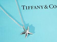Tiffany & Co Elsa Peretti Small 16mm Silver Starfish Pendant Necklace