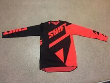 small Shift MX Racing Adult 3lack Label Motocross Jersey orange and black