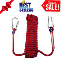 1 Piece Climbing Sling Rappelling Safety Belt for Rock Climbing Black 130cm