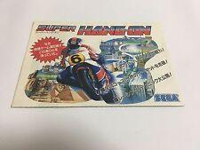 Super Hang-On original arcade game promo flyer poster Japan SEGA AM2