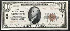 $20 SERIES 1929 NATIONAL CURRENCY/ NATIONAL BANK OF WILMERDING, PA