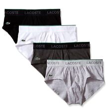NWT Lacoste. Sz M. Supima, Men 4 Pack, Low-Rise Brief, Multi-Color, MSRP $39.50