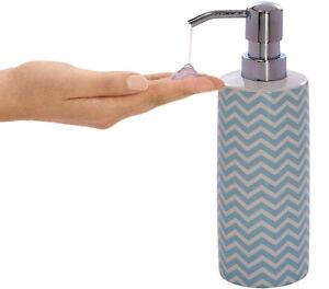Reusable Ceramic Liquid Soap Dispenser Pump Shampoo Hand Gel Empty Bottle 320ml