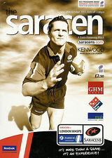 Saraceni V London VESPE 26 OTT 2003 programma Rugby