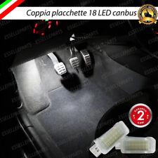 COPPIA PLACCHETTE 18 LED VANO PIEDI SPECIFICO VW GOLF 6 CANBUS 6000K BIANCO