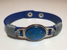 New Detroit Lions Leather Adjustable Bracelet, Gift for Her Mom Him Dad