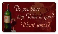 Wine Decor Bottle Metal Sign Kitchen Den Cafe Diner Resturaunt Pub Bar pts584