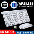 UltraSlim 2.4G Cordless Wireless Keyboard and Mouse Set For PC MAC Laptop Tablet