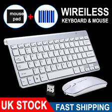 More details for ultraslim 2.4g cordless wireless keyboard and mouse set for pc mac laptop tablet