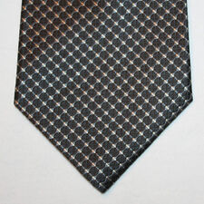 NEW Jones New York Silk Neck Tie Black with Black, Silver and White Pattern 1544