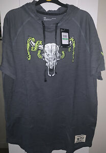 Under Armour Project Rock Short Sleeved Hoodie - BNWT - Size Large