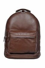 Deluxe New Unisex Backpack Tan Duffle Travel Gym Real Genuine Leather Bag 1005