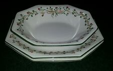 """2 JOHNSON BROTHERS ETERNAL BEAU OVAL SERVING PLATTERS 12"""" & 1 OVAL  BOWL 9 1/2"""""""