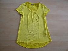 """Damen-T-Shirt mit Spitze---Street One---Gr. 42---gelb---Zustand """"GUT"""""""