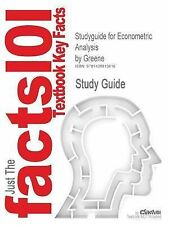 Studyguide for Econometric Analysis by Greene, ISBN 9780130661890 (Paperback or
