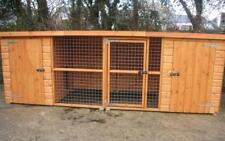Double Dog Kennel And Run.  12ft x 4ft (cats, rabbits) CHEAP UK WIDE DELIVERY