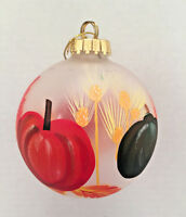 O'Well Christmas Hand Painted Blown Glass Holiday Ornament