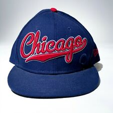 CHICAGO CUBS New Era Snap Back 7 1/8 Cursive 3D Spell Out Blue red MLB Baseball