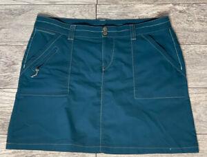 TITLE NINE Teal Green Cotton Nylon Active Skirt Size 14, EUC