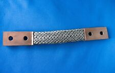 Burndy 1/2 x 19 Copper Flat Braided 2 hole Grounding Straps Wtyczki, przełączniki i kable Lot of 10
