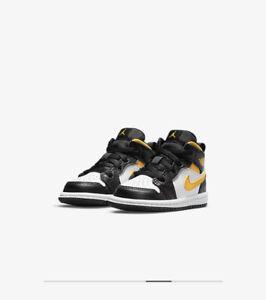 Nike Air Jordan 1 Mid White Pollen Black (TD) Size 7c 640735-177 NIB