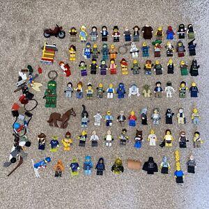 80x Lego Mini-figure Bundle Job Lot - Multiple Themes + Accessories - Genuine