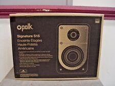 Polk Audio S15 Black Bookshelf Stereo Home Theater Speakers Pair Signature S-15