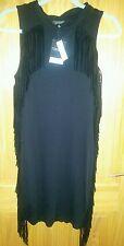 Topshop Acanalado borla vestido Talla 12