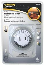 New Power Zone 24 Hour Indoor Heavy Duty Mechanical Outlet Timer Control 9001165