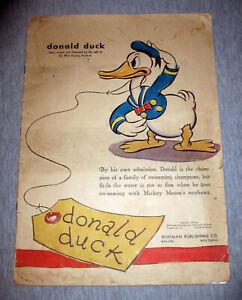 Vintage Donald Duck Story Book 1935 Whitman Walt Disney Mickey Mouse