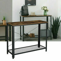 Console Table Vintage Accent Stand Sofa Side Entryway Hall Display Storage Shelf