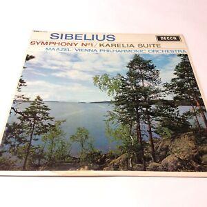 Sibelius Symphony No.1 Kareila Maazel/Vienne Philharmonic Vinyl LP SXL6084 Decca